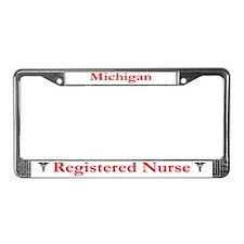 Michigan Registered Nurse License Plate Frame