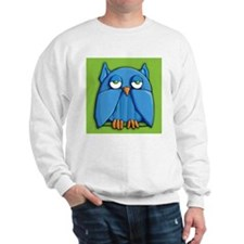 Aqua Owl green Sweatshirt