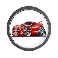 Viper GTS Red-Grey Car Wall Clock