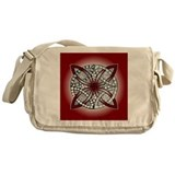 Celtic Knot Doodle Red Messenger Bag