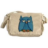 Aqua Owl Messenger Bag