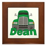 Trucker Dean Framed Tile