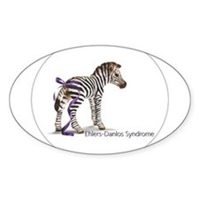 Zebra with Ribbon on Tail Decal