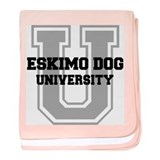 Eskimo Dog UNIVERSITY baby blanket