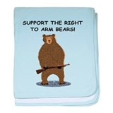 SUPPORT THE RIGHT TO ARM BEARS baby blanket