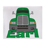 Trucker Earl Throw Blanket