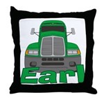 Trucker Earl Throw Pillow
