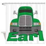 Trucker Earl Shower Curtain