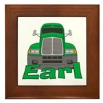 Trucker Earl Framed Tile