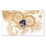 Massachusetts Flag Sticker (Rectangle)
