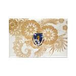 Massachusetts Flag Rectangle Magnet (10 pack)