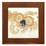 Massachusetts Flag Framed Tile
