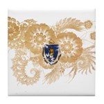 Massachusetts Flag Tile Coaster
