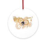 Massachusetts Flag Ornament (Round)