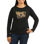 Massachusetts Flag Women's Long Sleeve Dark T-Shir