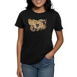 Massachusetts Flag Women's Dark T-Shirt