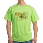 Massachusetts Flag Green T-Shirt