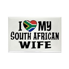 South African Wife Rectangle Magnet