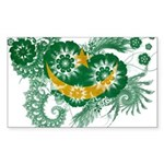 Mauritania Flag Sticker (Rectangle 10 pk)