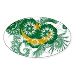 Mauritania Flag Sticker (Oval)