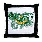 Mauritania Flag Throw Pillow