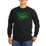 Mauritania Flag Long Sleeve Dark T-Shirt