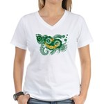 Mauritania Flag Women's V-Neck T-Shirt