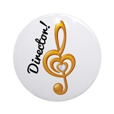 Music Director Treble Clef Ornament (Round)