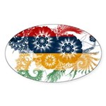 Mauritius Flag Sticker (Oval 50 pk)