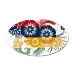 Mauritius Flag 22x14 Oval Wall Peel