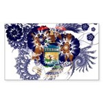 Michigan Flag Sticker (Rectangle 50 pk)
