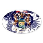 Michigan Flag Sticker (Oval 50 pk)