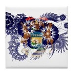 Michigan Flag Tile Coaster