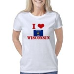 Michigan Flag Women's Raglan Hoodie