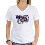 Michigan Flag Women's V-Neck T-Shirt