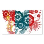 Mongolia Flag Sticker (Rectangle 50 pk)