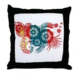 Mongolia Flag Throw Pillow