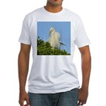 Great Egret Fitted T-Shirt