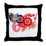 Myanmar Flag Throw Pillow
