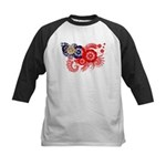 Myanmar Flag Kids Baseball Jersey