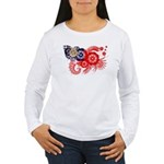 Myanmar Flag Women's Long Sleeve T-Shirt