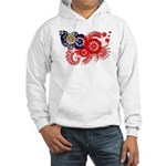 Myanmar Flag Hooded Sweatshirt