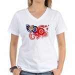 Myanmar Flag Women's V-Neck T-Shirt