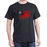 Myanmar Flag Dark T-Shirt