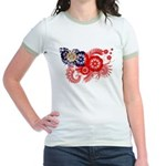 Myanmar Flag Jr. Ringer T-Shirt