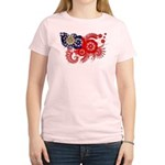 Myanmar Flag Women's Light T-Shirt