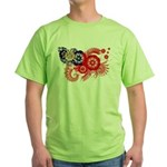 Myanmar Flag Green T-Shirt
