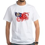 Myanmar Flag White T-Shirt