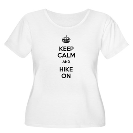 Keep Calm and Hike On Women's Plus Size Scoop Neck