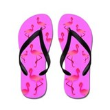 Hot Pink Flamingo Flip Flops